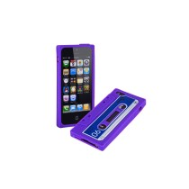 Soft Silicone Cassette Tape Style Protective Back Case Cover  - Purple