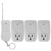 FK-823A Wireless Remote Control Outlet Switch for Home Electronic Appliances 3 Pcs Pack