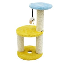 Funny DIY Three Layers Cat Climbing Shelves,Cat Jumping Steps with Large Round Boards
