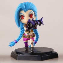 LOL League Jinx Plush Doll Action Figure Toy Car Furnishing Articles - Mix Color