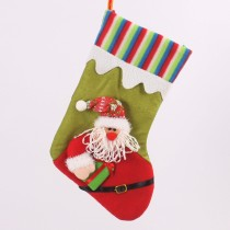 Santa Claus Christmas Socks Gift Bag Hanging Bag Stockings Indoor Decor