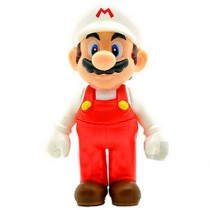 12cm Super Mario Bros. Game Anime Action Figure Luigi Mario Model Toy Doll Toy - Red + White