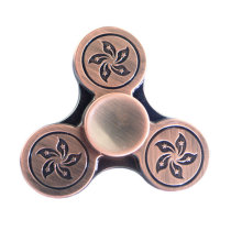 ECUBEE Hand Spinner Zinc Alloy Flower Fidget Spinner Finger Focus Reduce Stress Gadget