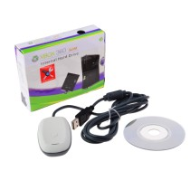 PC Wireless USB Gaming Receiver for Microsoft Xbox 360 - White