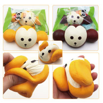 18CM Kawaii Jumbo Squishy Monkey Head Super Slow Rising Charm Scented Phone Straps Toy for Cellphone