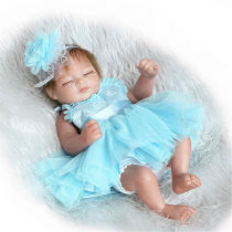 11inch Handmade Reborn Baby Doll Silicone Lifelike Play House Toy Realistic Newborn Toy