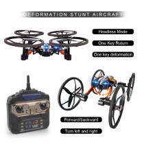 LiDiRC L9 One Key Deformation Stunt Aircraft 2.4G 8CH 6-Axis Speed Switch with 3D Flips RC Quadcopter Drone Airphibian Flying Car RTF