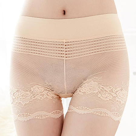 Sexy Lace See Though Boxer Ice Silk Anti Exposure Security Trousers Perspective Panties
