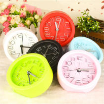 Plastic Silent Digital Alarm Clock With Timer Round Desk Decor Travel Clock