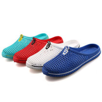 Big Size Unisex Hollow Out Outdoor Slippers Breathable Slip-on Beach Slippers