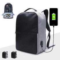 Ekphero Men Anti-theft Backpack Waterproof Travel Bag With USB Charging Port