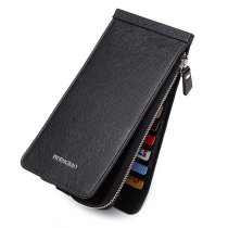 6.6 inches 26 Credit Card Men Business Pu Long Wallet Card Holder Coins Bag