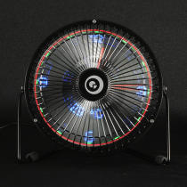 Digoo DG-TF111 DIY 6 Inches USB LED Light Metal Electrical Rotatable Clock Fan Colorful Display Bluetooth Connect with APP Control