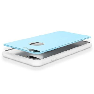Bakeey Ultra Thin 360º Full Body Hybrid Color Soft Silicone Shockproof Case For iPhone 7 Plus 5.5