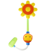Cikoo Yellow Duck Shower Head for Kids Faucet Water Spraying Tool Baby Bath Toys