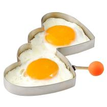 KCASA KC-ER096 Stainless Steel Heart Shape Fried Egg Mold Pancake Omelette Ring Kitchen Tools