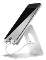 Cell Phone Stand, Lamicall iPhone Stand : Desktop Cradle, Dock For Switch, all Android Smartphone, iPhone 6 6s 7 Plus 5 5s 5c charging, Universal Accessories Desk - Silver