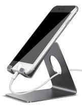 Cell Phone Stand, Lamicall S1 Dock : Cradle, Holder, Stand For Switch, all Android Smartphone, iPhone 6 6s 7 Plus 5 5s 5c charging, Accessories Desk - Gray