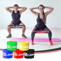 Limm Exercise Resistance Loop Bands - Set of 5, 12-inch Workout Bands - Best for Stretching, Physical Therapy, Yoga and Home Fitness - Bonus eBook, Instruction Manual, Online Videos & Handy Carry Bag