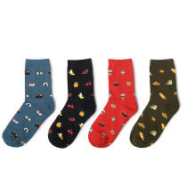 Women Girls Cute Cartoon Printing Short Tube Socks Summer Cotton Breathable Soft Ankle Socks
