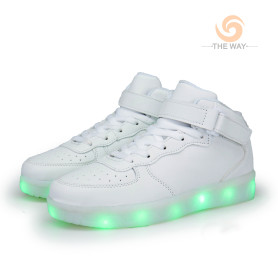 High Top LED Light-Up Luminous Shoes Boy's Girl's Women's Men's Sport Shoes Sneakers USB Charging