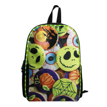 LED Light Up Backpack Bag Electric Flashing Lights Halloween Ghost Design