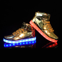 LED Light-Up Luminous Shoes Boy's Girl's Women's Men's Sport Shoes Sneakers High Top USB Charging