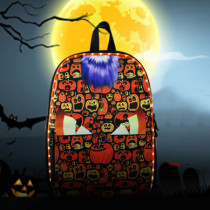 LED Light Up Backpack Bag Electric Flashing Lights Halloween Pumpkins Design