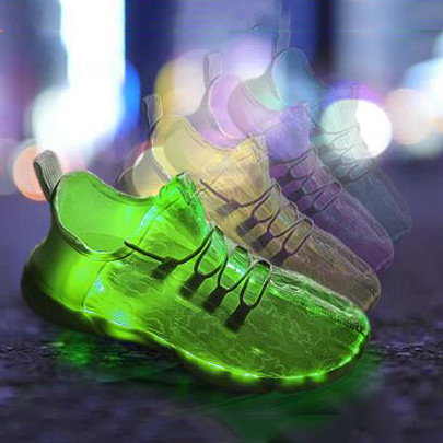 Led Luminous Flashing Soft Comfortable Light Up Shoes Sneakers For Toddlers Teens & Women Optical Fiber Dance Shoes