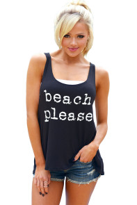Black Beach Please Tank Top