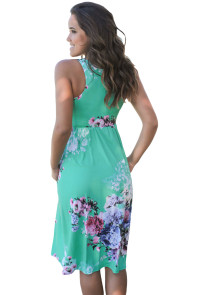 Fall in Love with Floral Print Boho Dress in Mint