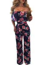 Frill Off Shoulder Floral Wide Leg Jumpsuit