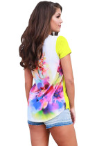 Floral Wonderland Yellow Short Sleeve Shirt