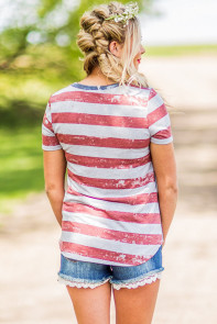American Heart Womens Flag T-shirt