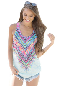 Mint Kaleidoscope Dreams Tank