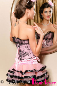 Dissolutely Pink Bowknot Decor Corset