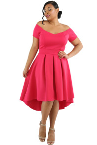 Rosy Plus Size Off Shoulder Swing Dress