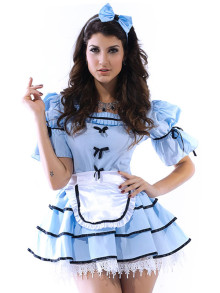 3pcs Looking Glass Alice Costume
