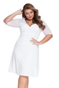 White Plus Size Sugar and Spice Dress