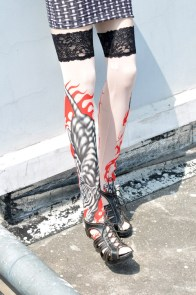Tiger Ferocity Tattoo Stockings