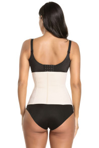 Apricot Spiral Boned Sport Workout Body Shaper Waist Cincher