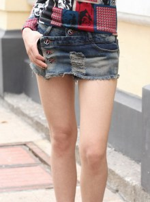 Low Waist Hot Pants&Skirt Basic Jeans