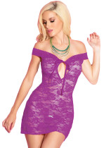 Purple Lace Dress Lingerie