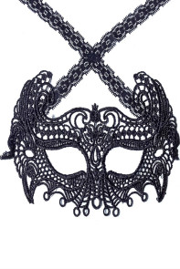 Mysterious Black Lace Masquerade Party Mask