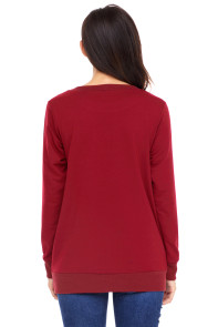 Mama Bear Sweatshirt in Wine Red