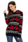 Cute Christmas Reindeer Knit Black Hooded Sweater