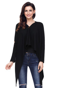Black Elbow Patch Women Cardigan