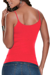 Red Caged Front Detail Cami Top
