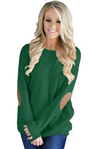 Green Elbow Patch Sweatshirt