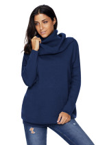 Navy Cozy Cowl Neck Long Sleeve Sweater